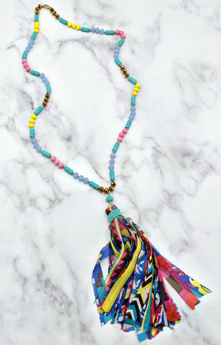 Oh So Easy Necklace - Turquoise/Multi