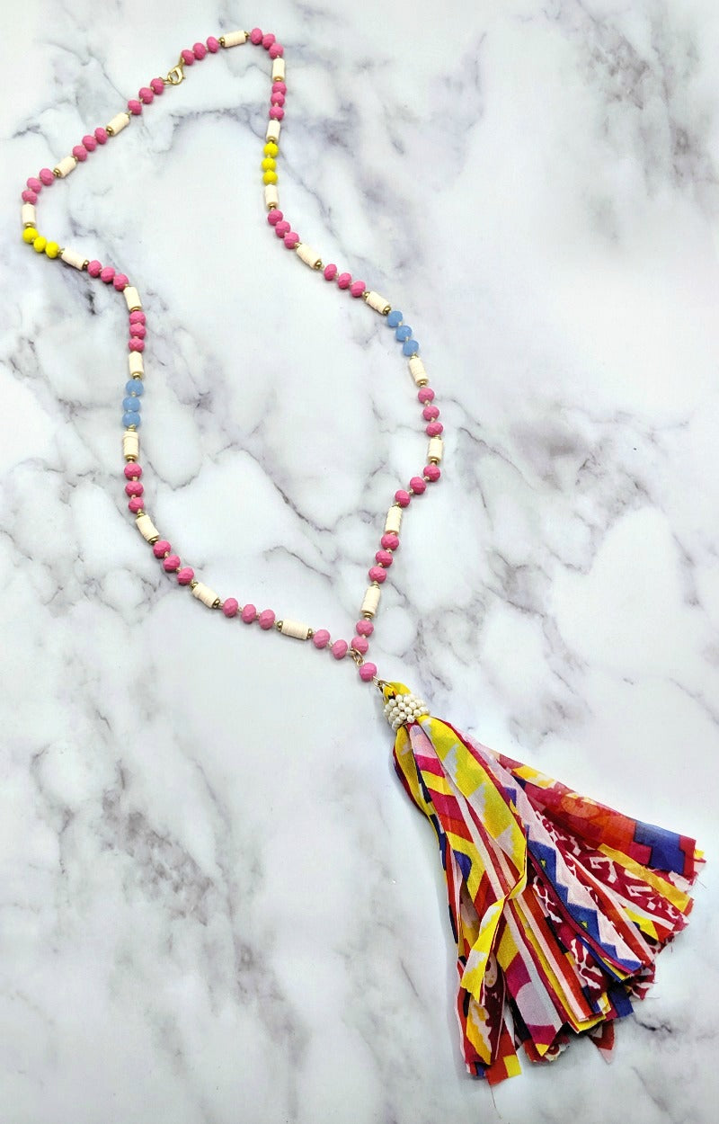 Load image into Gallery viewer, Oh So Easy Necklace - Pink/Multi