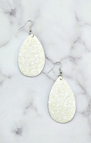 It's That Simple Earrings - White