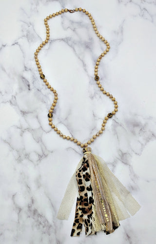 Taking My Chances Necklace - Leopard/Beige