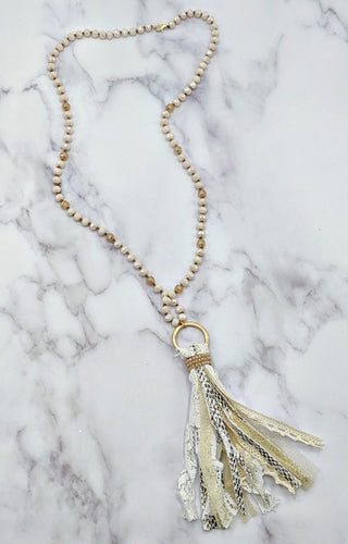 You're A Charmer Necklace - White