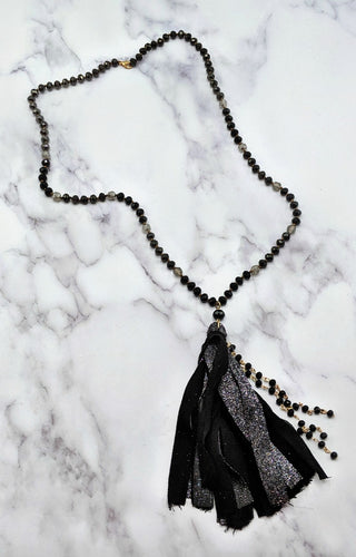 Back At It Necklace - Black