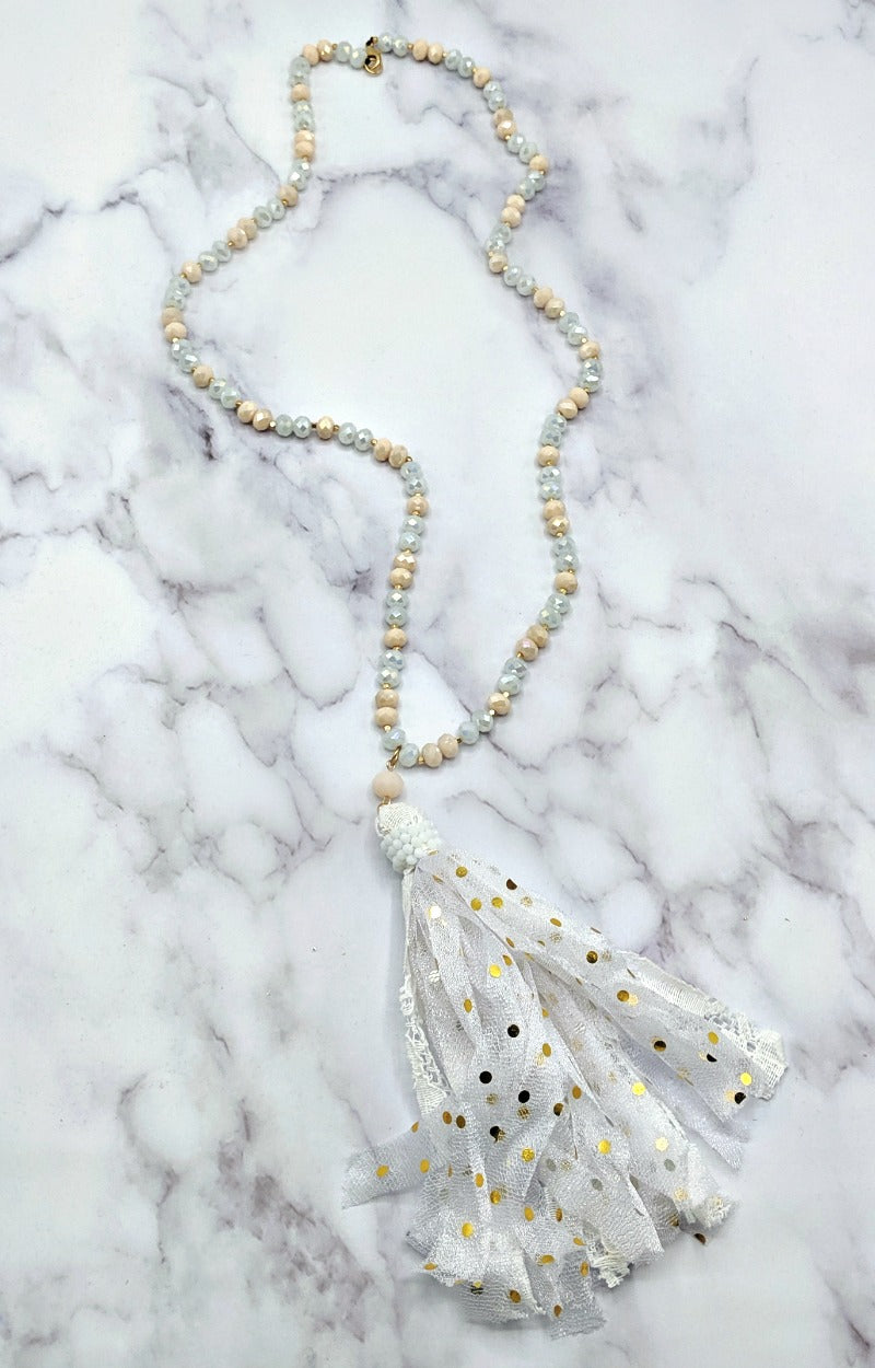 Never Find Better Necklace - White/Rose