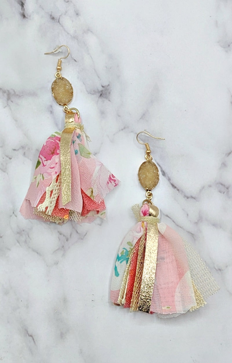 Load image into Gallery viewer, In My Groove Earrings - Pink/Multi
