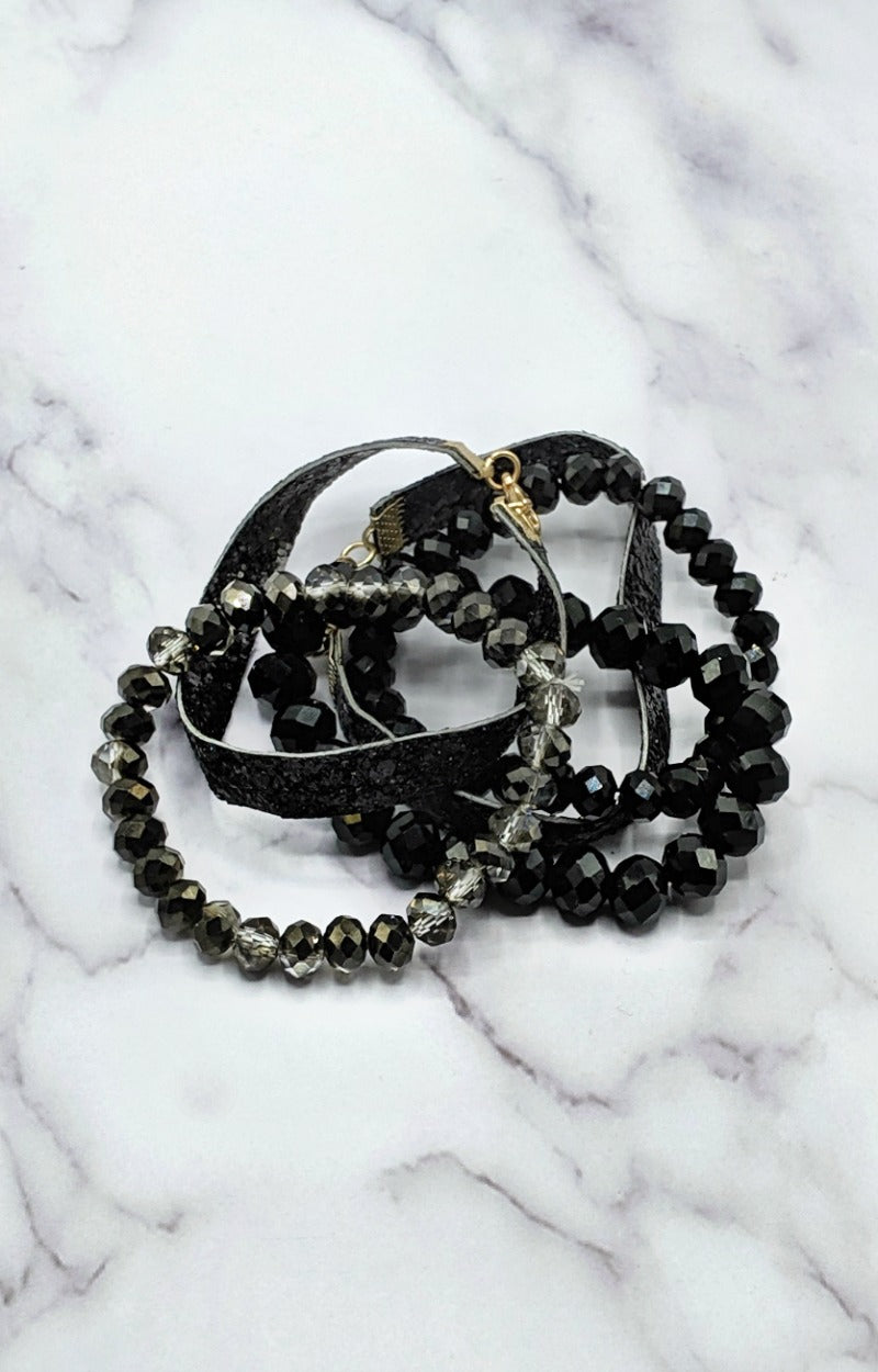 Load image into Gallery viewer, So Put Together Bracelet Set - Black