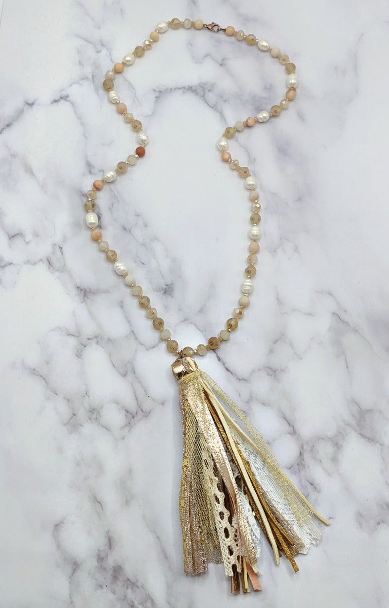 All My Effort Necklace - Pink/Gold