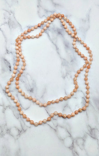 The Essential Double Wrap Necklace - Rose