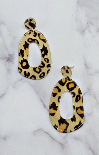 Making Changes Leopard Print Earrings