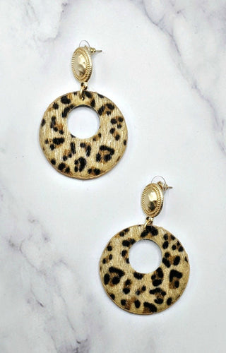 Got This Feeling Leopard Print Earrings