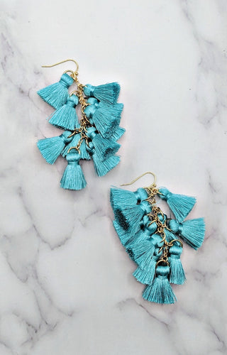 So Effortless Earrings - Turquoise