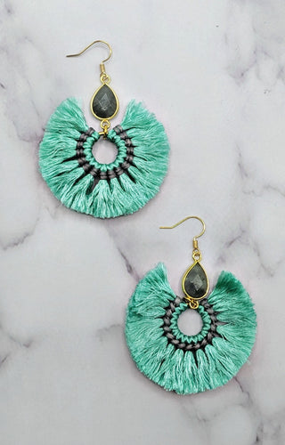 When I See You Earrings - Mint