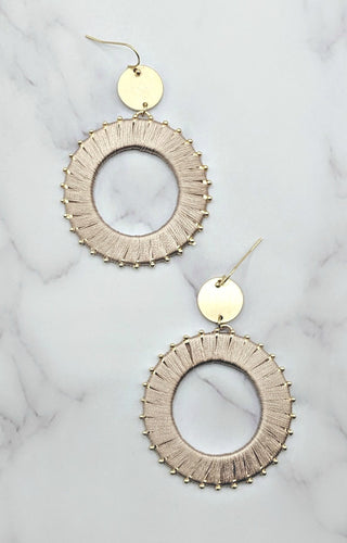 Key To Success Earrings - Blush