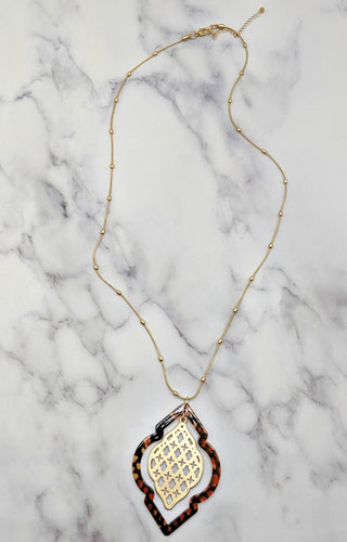 While You're Gone Necklace - Tortoise