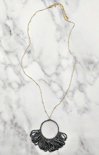 Beating Heart Necklace - Gray
