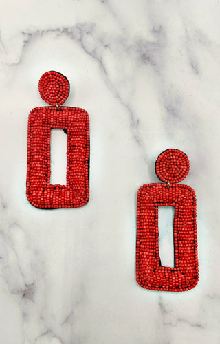 Daily Routines Earrings - Red