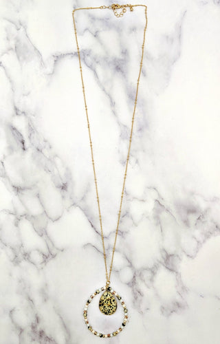 Fall In Deep Stone Necklace