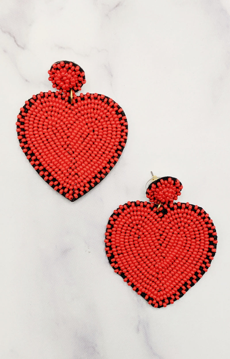 Load image into Gallery viewer, Love Always Wins Earrings - Red