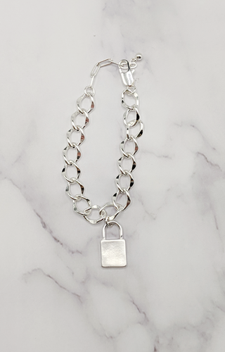 Lock It Up Bracelet - Silver
