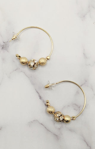 Golden Treasure Hoop Earrings - Gold
