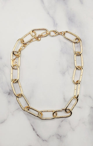 Not Chained Down Necklace - Gold