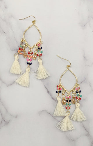 Sweet Harmony Earrings - Cream