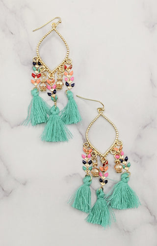 Sweet Harmony Earrings - Teal