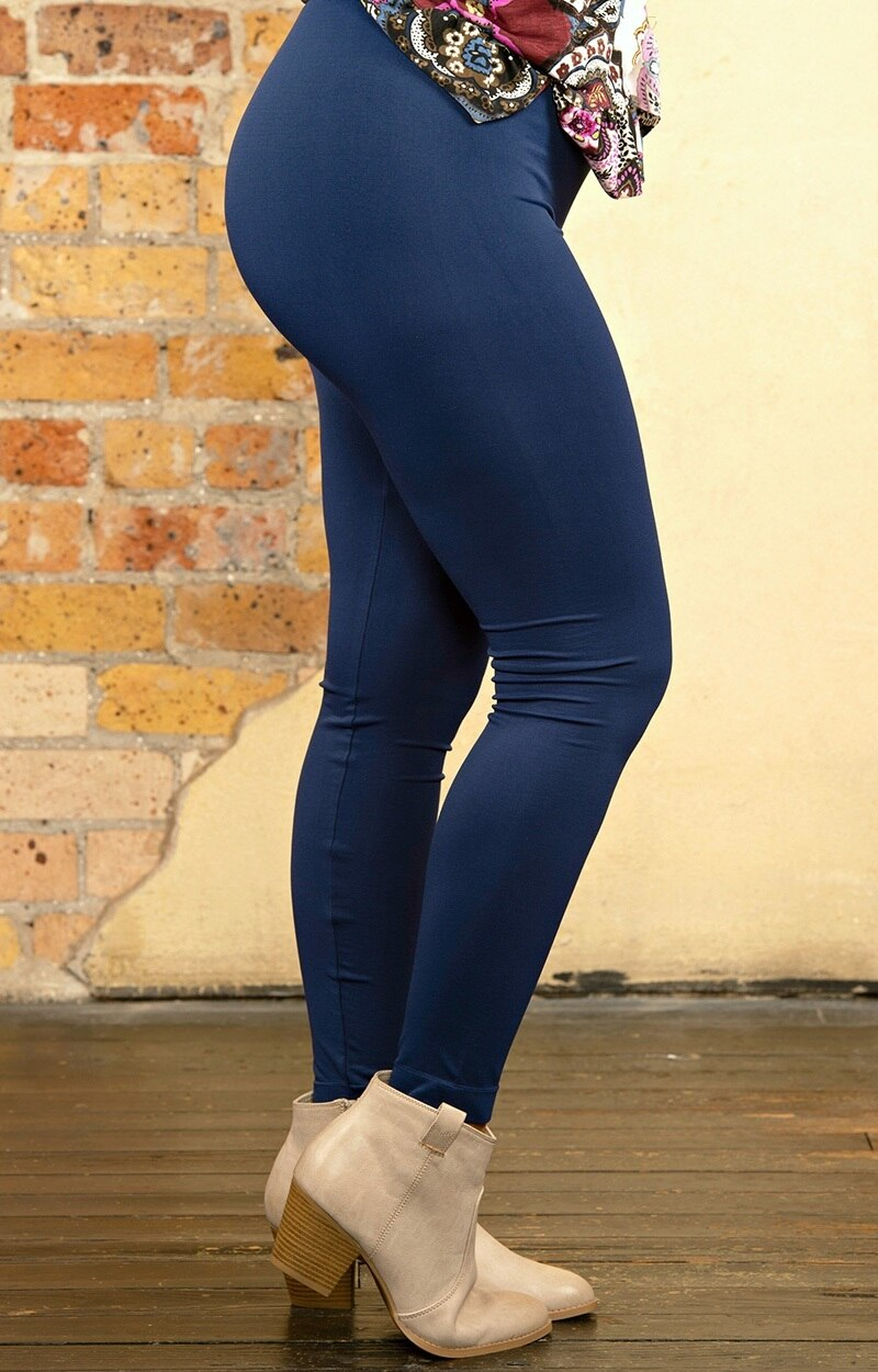 So Very Luxe Ankle Length Leggings - Navy
