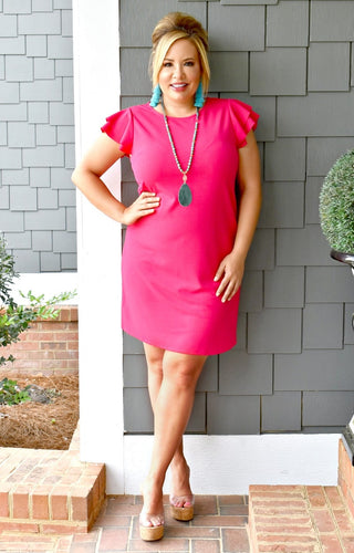 Keep Them Waiting Dress - Fuchsia