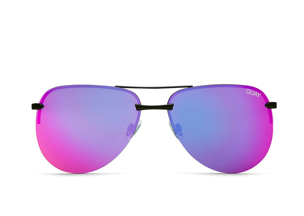 Load image into Gallery viewer, Quay Australia - The Playa Black/Pink Sunglasses