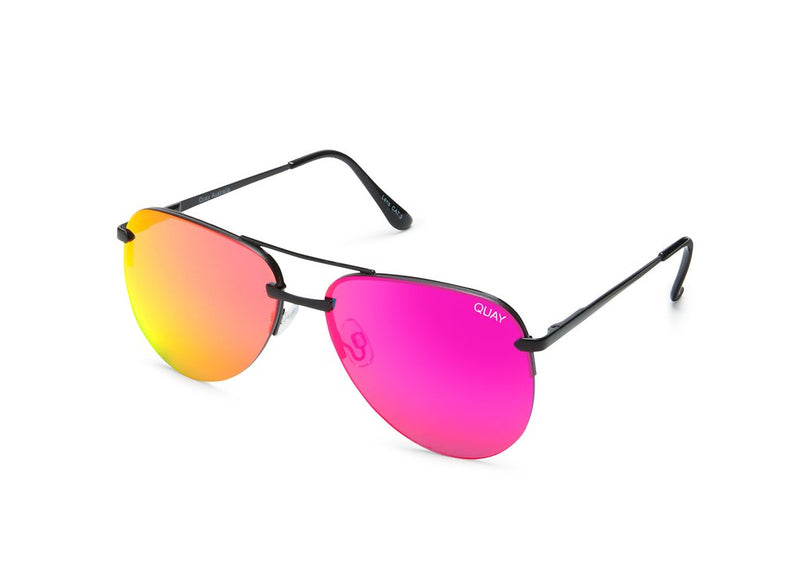 Quay Australia - The Playa Black/Pink Sunglasses
