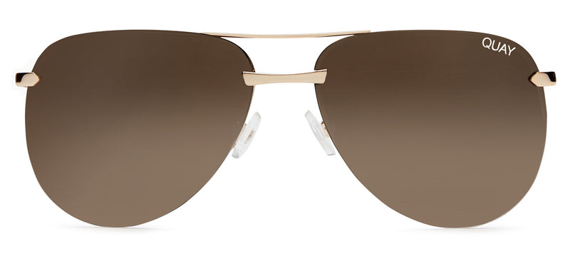 Quay Australia - The Playa Gold/Brown Sunglasses