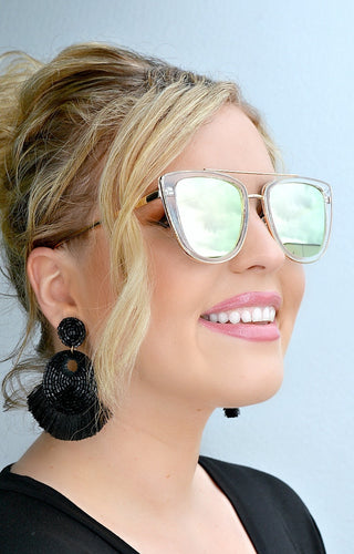 Quay Australia - French Kiss Clear/Rose Sunglasses
