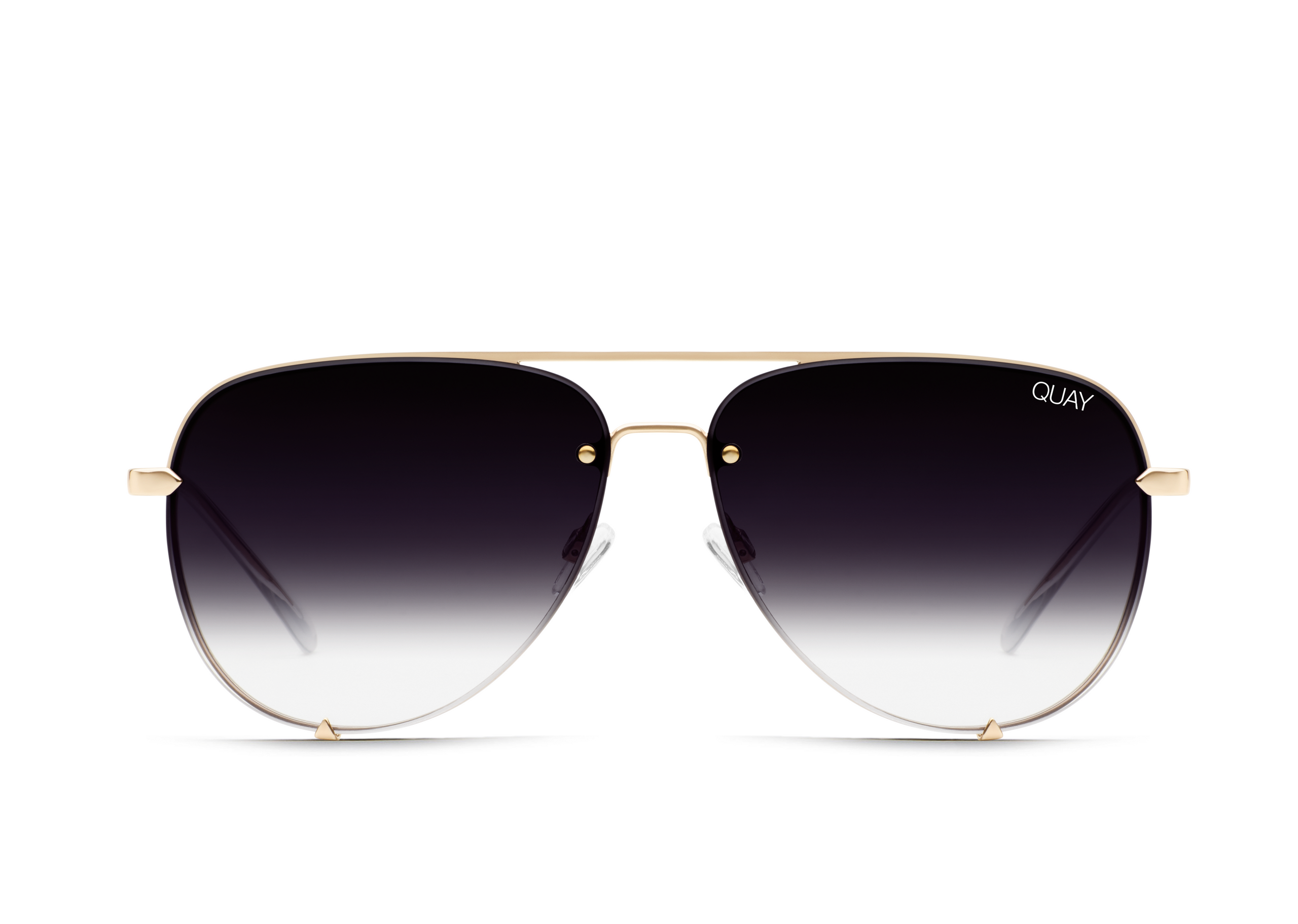 Load image into Gallery viewer, Quay Australia - High Key Rimless Gold Fade Sunglasses