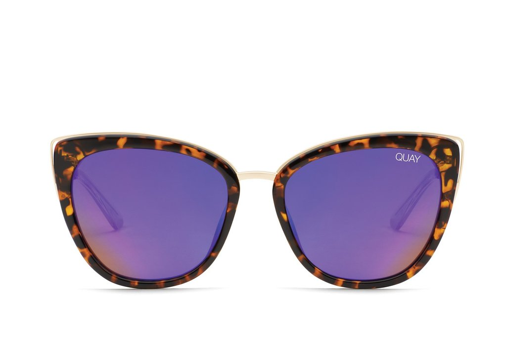 Load image into Gallery viewer, Quay Australia - Honey Tortoise Shell/Purple Sunglasses