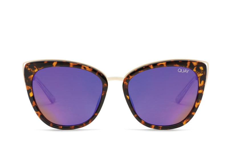 Quay Australia - Honey Tortoise Shell/Purple Sunglasses