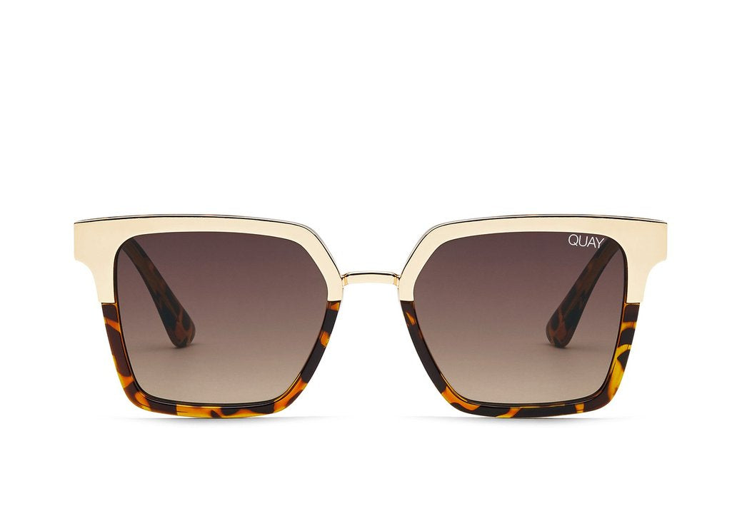 Load image into Gallery viewer, Quay Australia - Upgrade Tortoise Gold/Brown Sunglasses