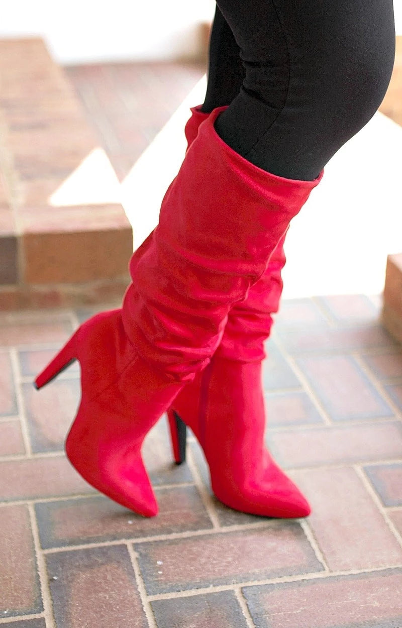 I'm The Boss Boots - Red