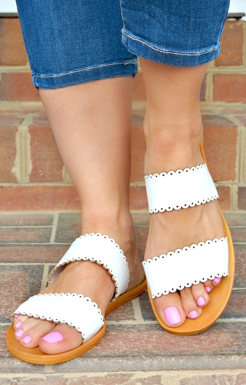 Fast Lane Sandals - White