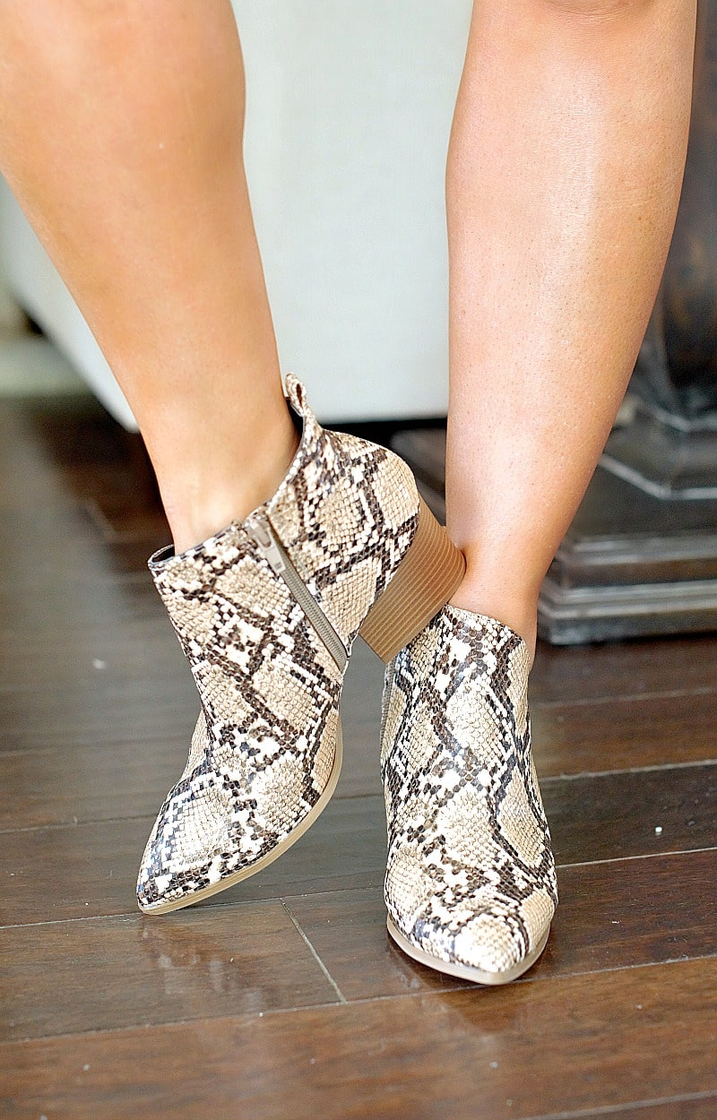 Load image into Gallery viewer, Every Little Step Snake Print Booties