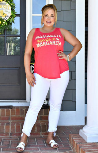 Mamacita Needs A Margarita Top - Coral