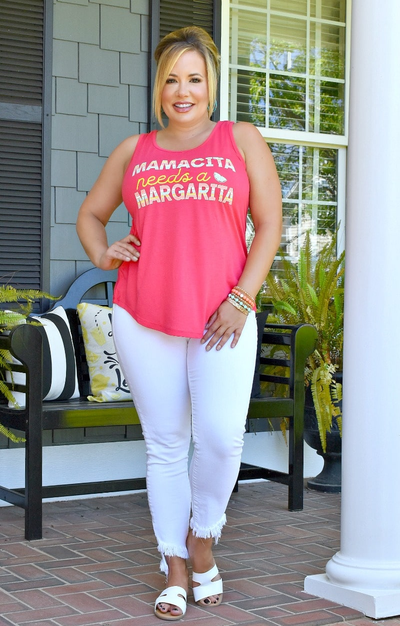 Load image into Gallery viewer, Mamacita Needs A Margarita Top - Coral
