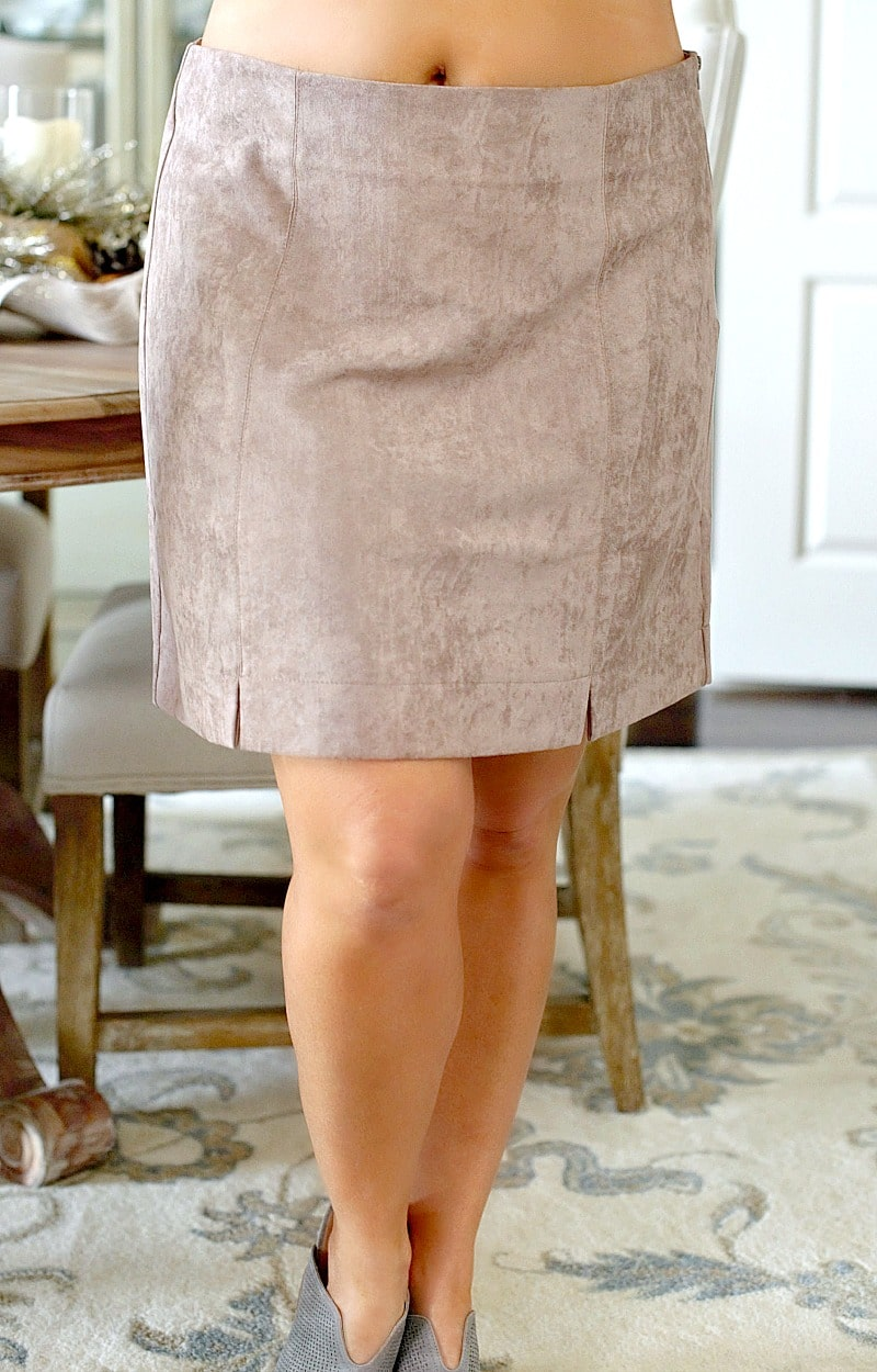 Load image into Gallery viewer, Take My Love Suede Skirt - Mocha
