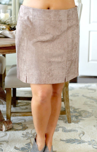 Take My Love Suede Skirt - Mocha