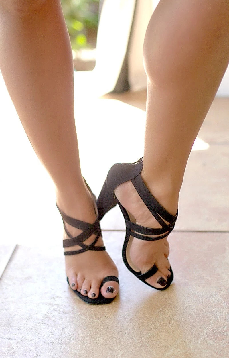 Load image into Gallery viewer, Let's Get Crazy Heels - Black