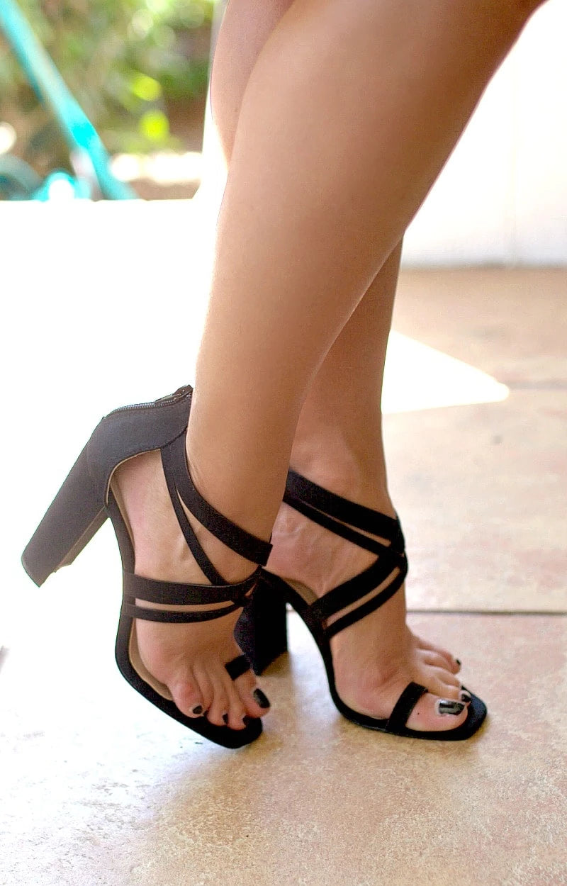 Let's Get Crazy Heels - Black