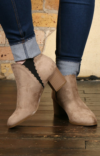 Happier With You Booties - Taupe
