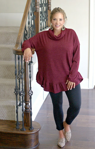In Reality Sweater - Burgundy
