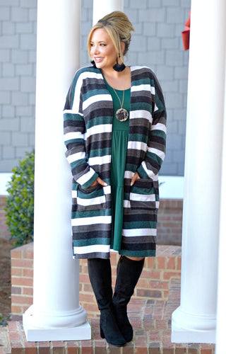 A Must Have Striped Cardigan - Multi