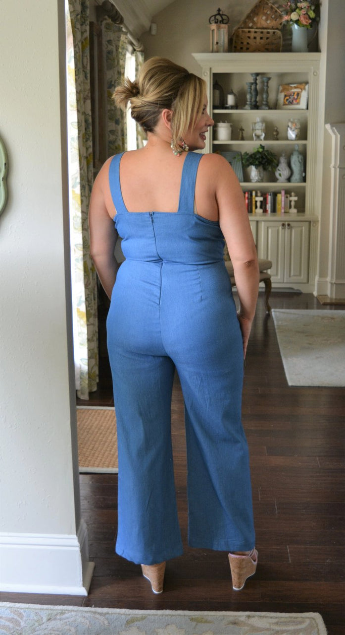 A Special Thing Jumpsuit - Denim Blue
