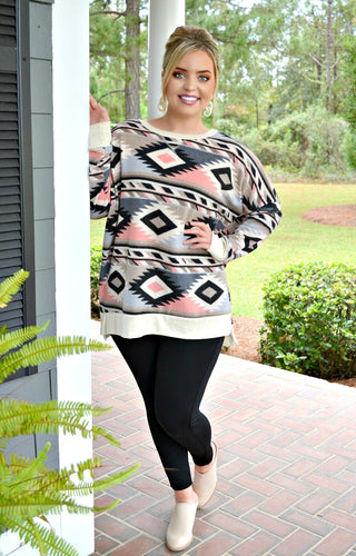 Keep It Cozy Print Sweater - Multi